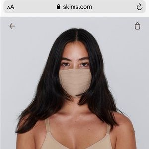 SKIMS seamless face mask in CLAY color brand new